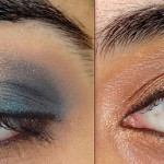 Festive Gold and Blue Eyeshadow Tutorial