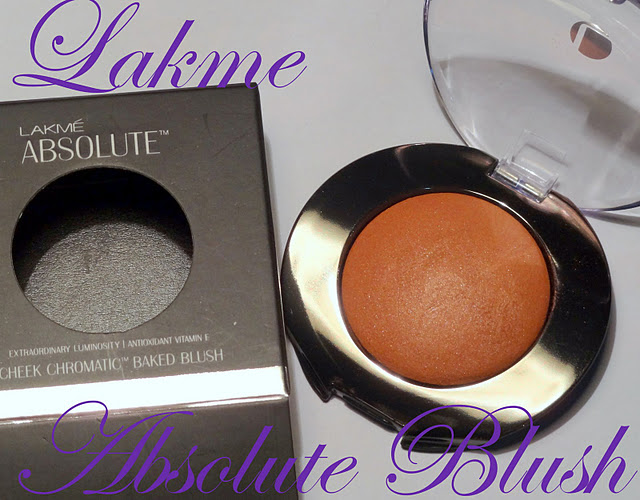 Lakme Absolute Baked Blush Review, Swatch : Night Sheen