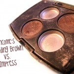 Battle of the Browns: Lancome Sparkling Brown vs Impress Eyeshadow