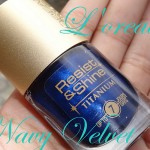 L'Oreal Navy Velvet Nail Polish: Not Quite 'Blue-n' Away
