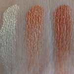 Nyx Eyeshadow Trio Shimmer/Peach/Copper : Swatches Review