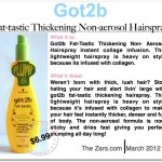 Got2b Fat-Tastic Thickening Hair Spray Review
