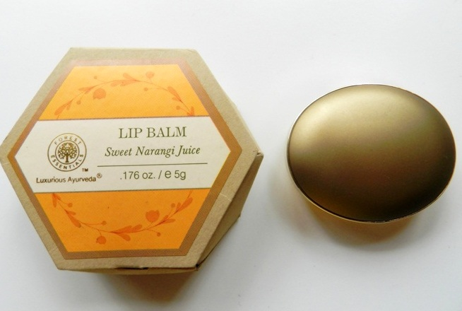 Forest Essentials Luscious Lip Balm Sweet Narangi Juice Review