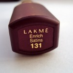 Lakme Enrich Satin Lipstick 131: Swatches & Review