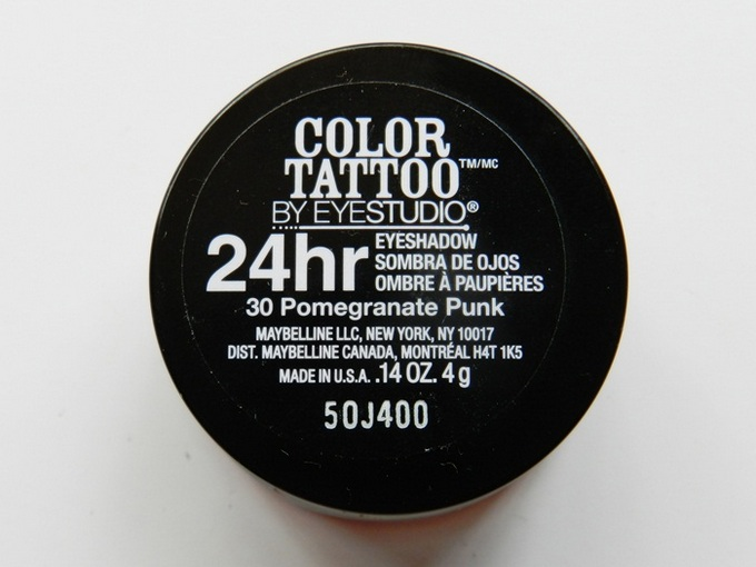 Maybelline Color Tattoo Eyeshadow in Pomegranate Punk