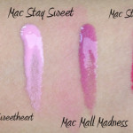 Mac Archies Girls Lipglass & Lipstick Swatches!