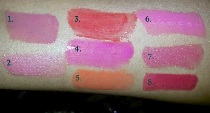 Post image for 8 Maybelline Color Sensational High Shine Lip Gloss Swatches