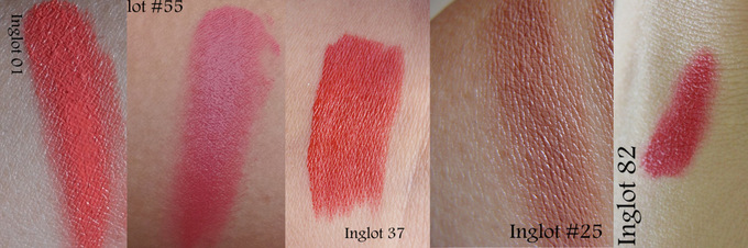 5 Pretty Inglot Freedom System Lipsticks