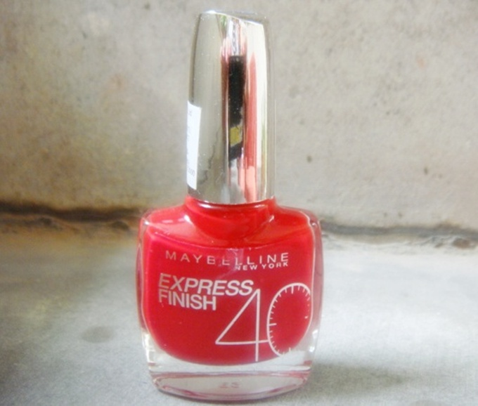 Maybelline Nail Polish Cherise Cherry (5)