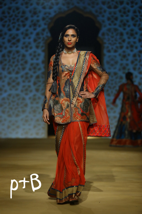 India Bridal Fashion Week Delhi 2013 - Model seen in bridal collection of  Ashima Leena