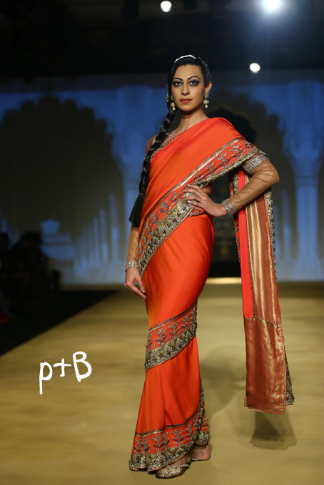 India Bridal Fashion Week Delhi 2013 - Model seen in bridal collection of  Ashima Leena_1