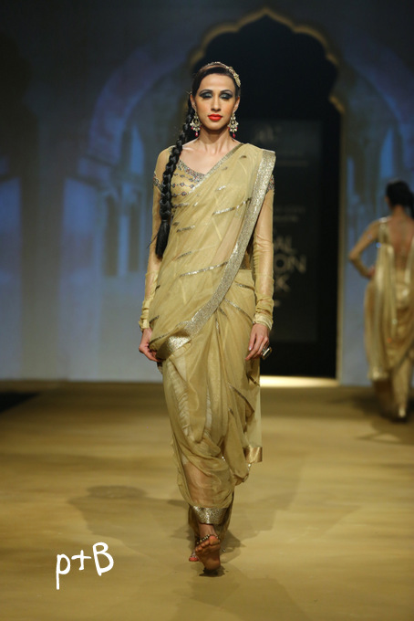 India Bridal Fashion Week Delhi 2013 - Model seen in bridal collection of  Ashima Leena_2