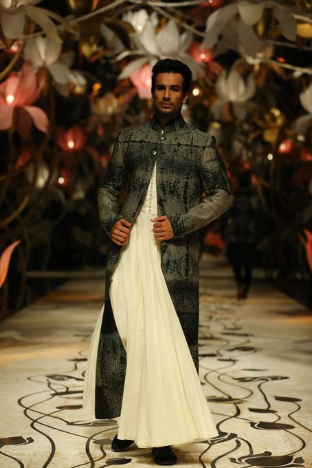 India Bridal Fashion Week Delhi 2013 - Model seen in groom collection of  Rohit Bal