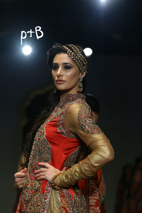 India Bridal Fashion Week Delhi 2013 - Nargis Fakhri as the showstopper of Ashima Leena's Collection_1