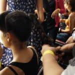 Backstage at Lakme Talent Box 2013  : How to Make a Top Knot !