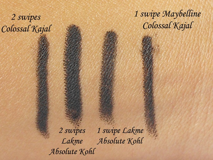 Lakme Absolute Kohl Ultimate: Swatches & Review - Peachesandblush