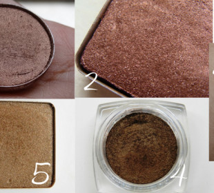 5 Gorgeous Bronze-Brown Eyeshadows !