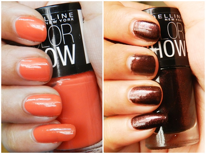 Maybelline Colorshow Nail Polish Swatches: Wine & Dine And Orange ...
