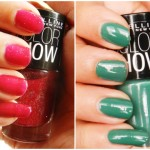 Maybelline Colorshow Nail Polish Swatches: Velvet Wine & Tenacious Teal