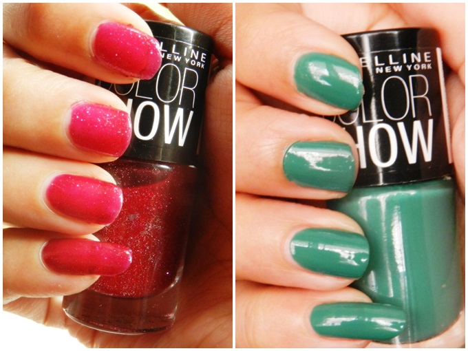 Maybelline Colorshow Nail Polish - Velvet Wine & Tenacious Teal(1)