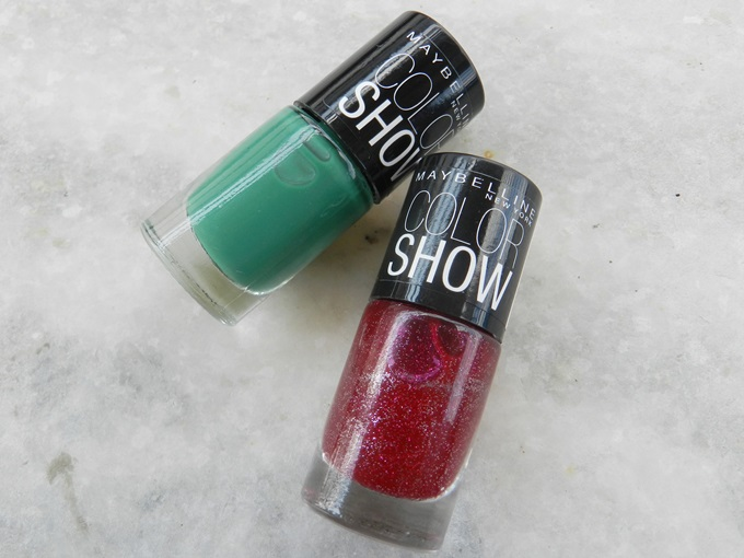 Maybelline Colorshow Nail Polish - Velvet Wine & Tenacious Teal(2)