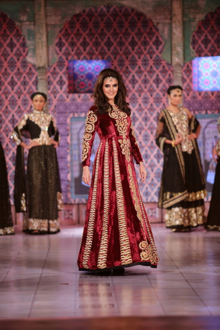 Seen at the Niki Mahajan Prive - Neha Dhupia as the Showstopper - Couture Show 2
