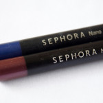 Sephora Nano Eyeliner in Sapphire & Plum:  Review & Swatches