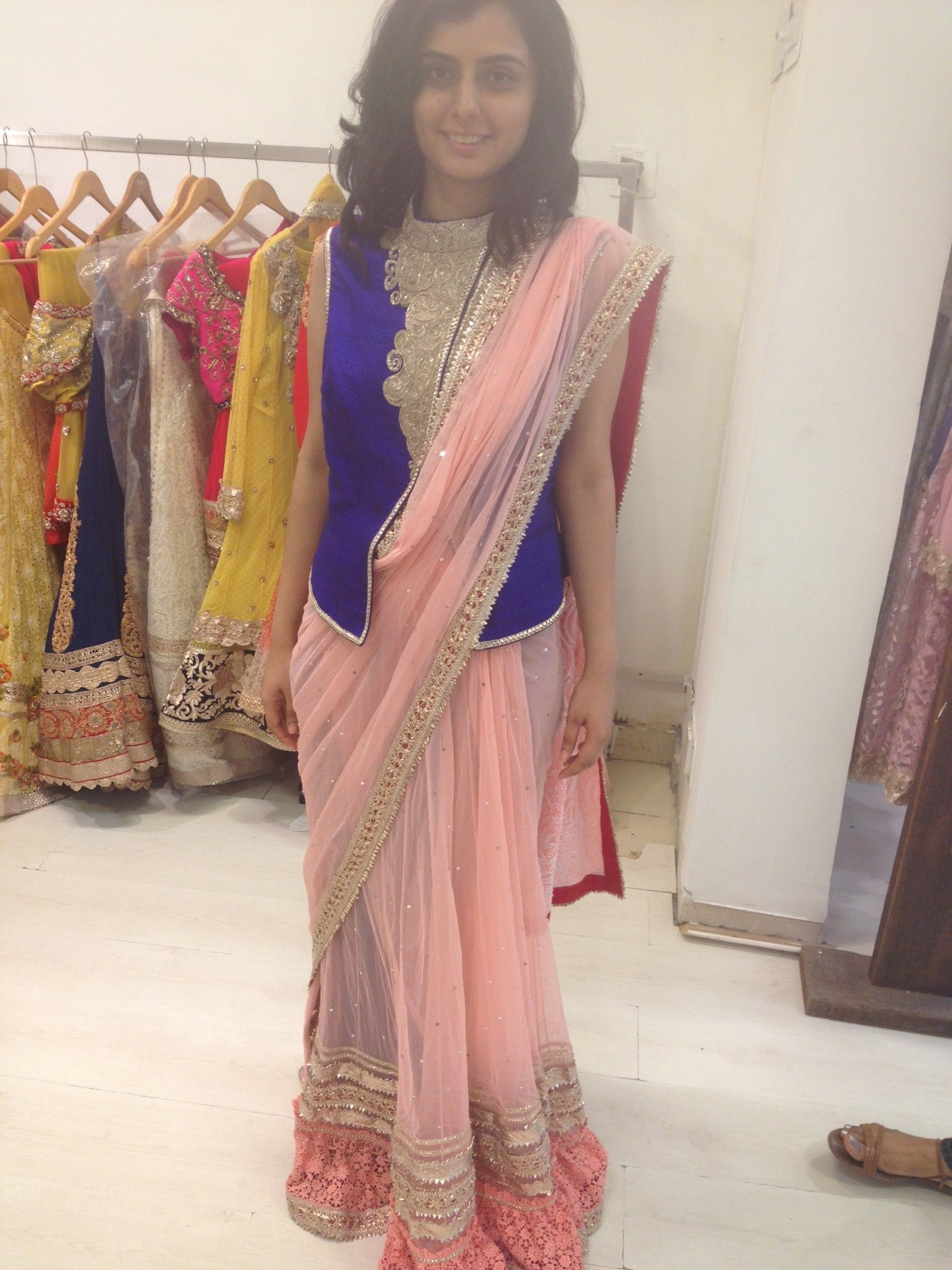 pastelpink-saree
