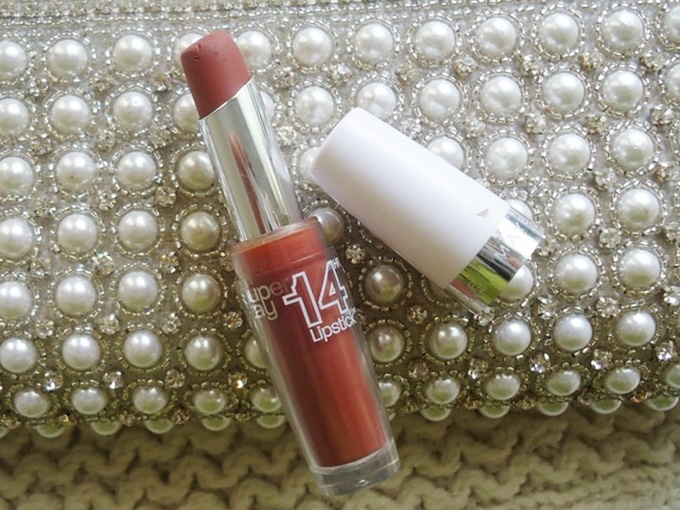 Maybelline Super Stay 14HR Lipstick In Lasting Chestnut Swatches & Review (5)