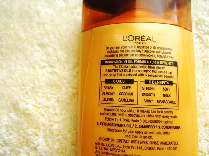 Loreal Paris 6 Oil Nourish Shampoo Review (2)
