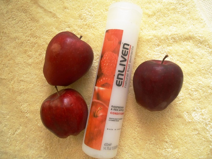 Enliven Natural Fruit Extract Raspberry & Red Apple Conditioner Review (4)