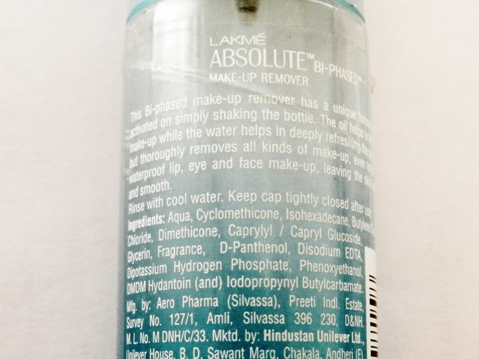 Lakme Absolute Bi-phased Makeup Remover Review (6)