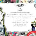 Peaches & Blush & Kiehl's Wedding Skincare Meet : REGISTER NOW !