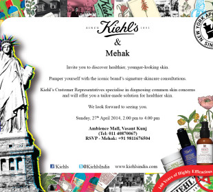 Peaches & Blush & Kiehls Wedding Skincare Meet : REGISTER NOW !