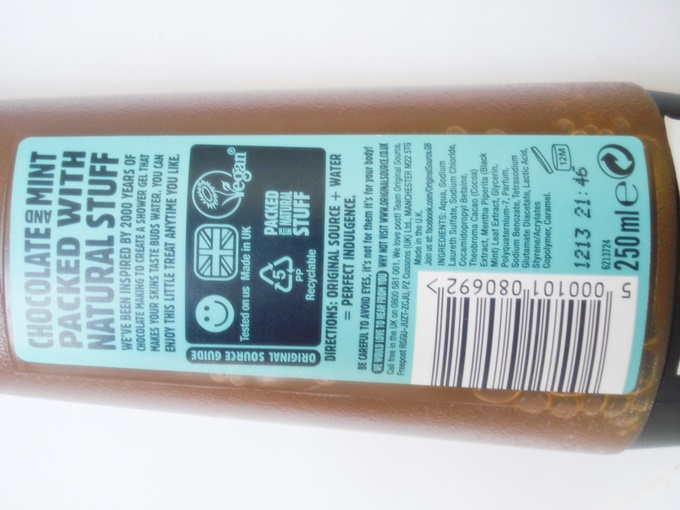 Original Source Chocolate and Mint Shower Gel Review (2)