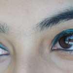 Testing the NEW Maybelline Collosal Kajal in Turquoise: FOTD !