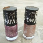 Maybelline Color Show Glitter Mania Nail Polishes: Matinee Mauve & Pink Champagne Review