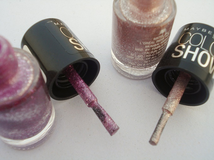 Maybelline Color Show Glitter Mania In Matinee Mauve And Pink Champagne Review (3)