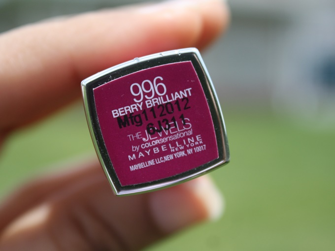 Maybelline The Jewels Colorsensational Lipstick in Berry Brilliant (2)