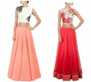 Bridal Lemmings: The Crop top Lehenga