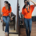 Quick Outfit of the day with Loreal Moist Matte Lipstick Orange Power