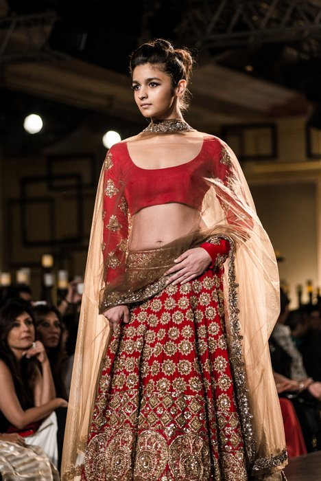 b4e5bd60812 A lot of mirror work used with gota and zardozi ! Signature Manish Jacket  lehenga. ...