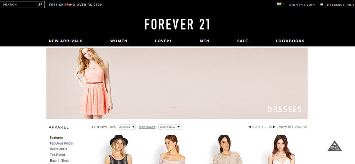 forever 21 india