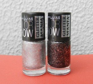 Maybelline Colorshow Glitter Mania Nail Polish in Starry Nights & Dazzling Diva Review