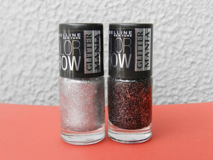 Maybelline Colorshow Glitter Mania Nail Polish in Starry Nights & Dazzling Diva Review (1)
