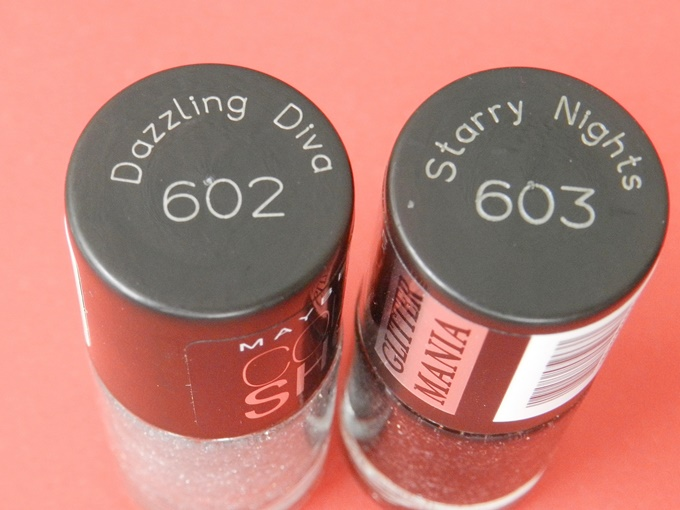 Maybelline Colorshow Glitter Mania Nail Polish in Starry Nights & Dazzling Diva Review (4)