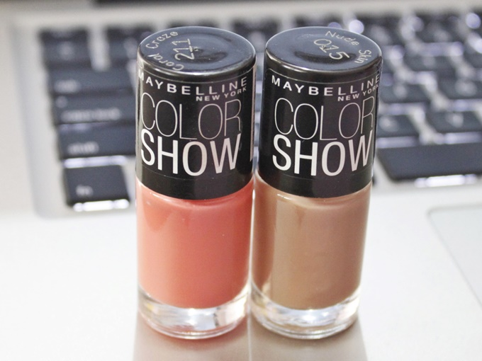Maybelline Color Show Nail Polish: Nude Skin & Coral Craze ...