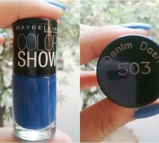 Maybelline Colorshow Nail Polish in Denim Dash: Swatches & Review
