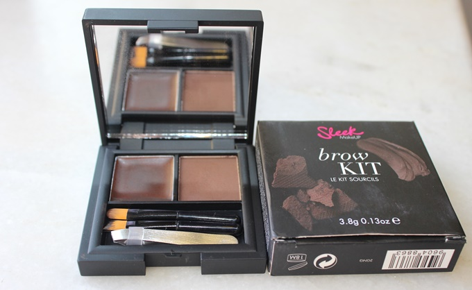 Sleek Makeup Brow Kit in Extra Dark: Swatches & Review
