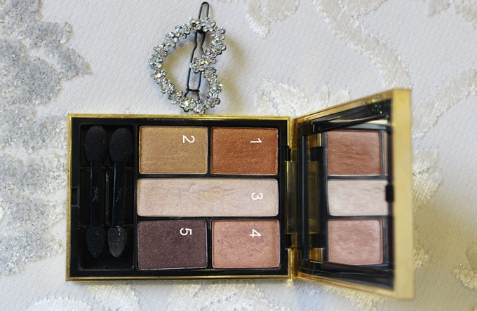 YSL Ombres 5 Lumieres Eyeshadow Palette in #3 Tawny Swatches & Review (1)